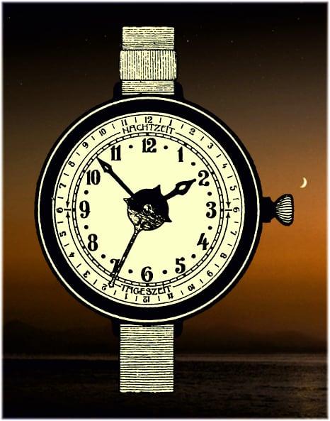 Militäruhr mit 12 und 24 Stunden-Zeiger aus dem Jahr 1915