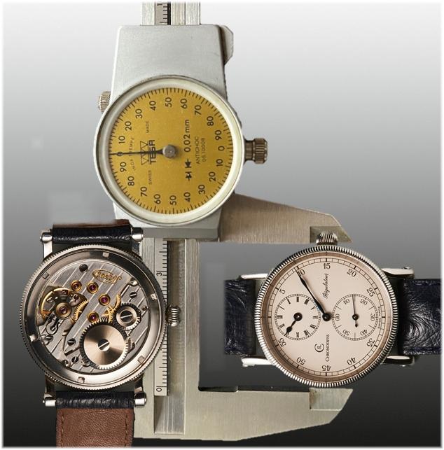 Chronoswiss Regulateur Handaufzug von 1988, Kaliber C.111 Basis Marvin 700 von 1952, Gehäusedurchmesser 38 Millimeter