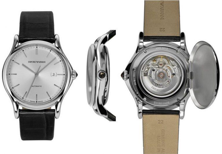 Die Swiss Made Fossil Uhr Emporio Armani Automatic mit dem Automatikkaliber STP1-11 / Eta 2824-A2 Klon