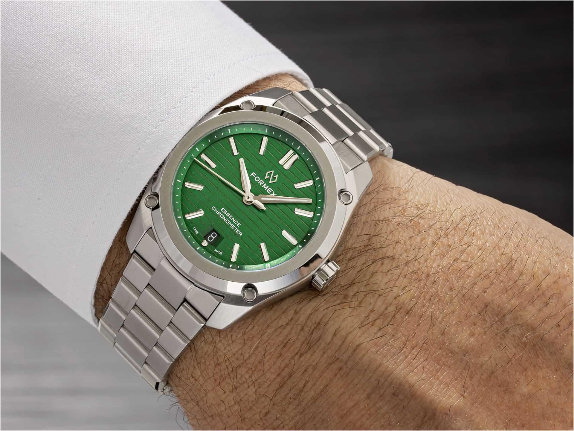 Formex Essence Thirtynine mit grünem Zifferblatt