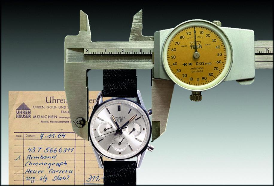 Heuer Carrera12 mit 36 mm Durchmesser