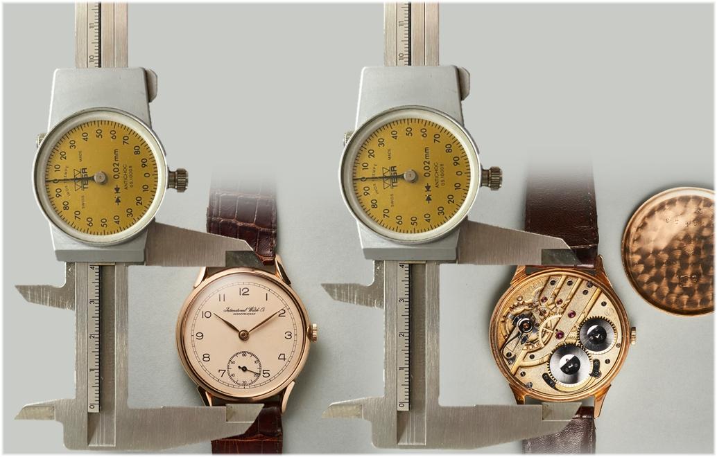 IWC-Armbanduhr Typ Portugieser Kaliber 74 mit einem Durchmesser von 38 mm um 1950