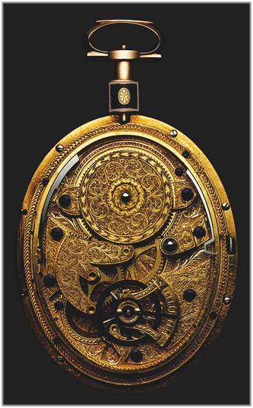 Ovale Taschenuhr mit Pantograph ZeigernVerdon and Stedman 1780 restauriert 1997 von Michel Parmigiani Werk