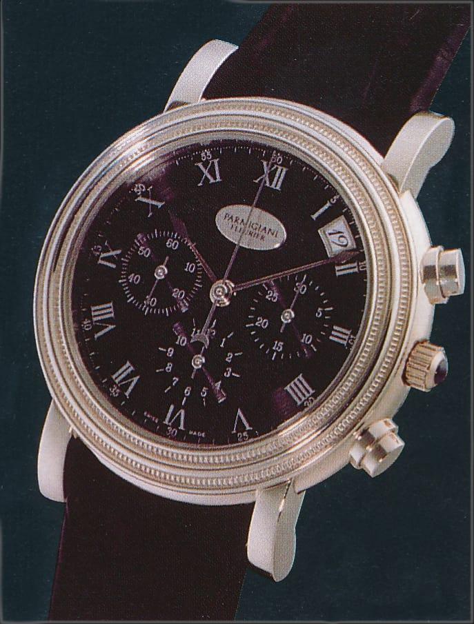 Im Modell Crono, Referenz C00900, verbaute Parmigiani Fleurier ein sorgfältig finissiertes El Primero-Kaliber von Zenith
