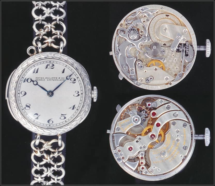 Patek, Philippe & Co. Damenarmbanduhr mit 5-Minuten-Repetition Nr. 174603, 1915, Platin, Uhrenkosmos