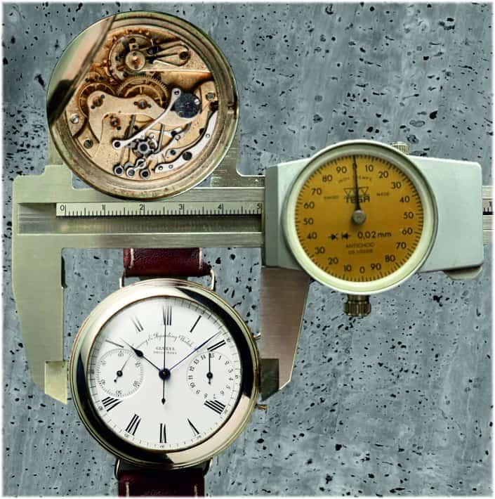 Timing and Repeating Company Armband-Chronograph ca. 1895 50 Millimeter