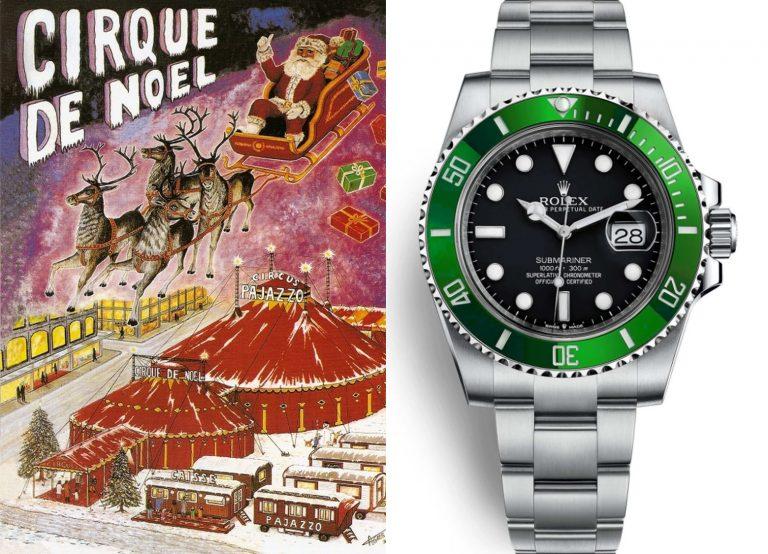 Uhr vom Weihnachtsmann