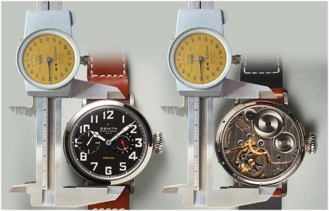 Durchmesser von Armbanduhren
