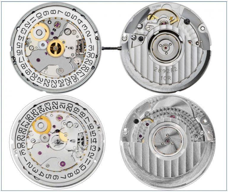 Automatikkaliber Eta 2892 A2 und Sellita SW300-1