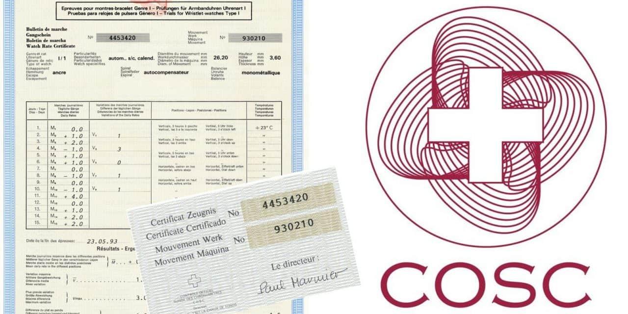 COSC und die Vorgaben für einen amtlich zertifizierten Chronometer