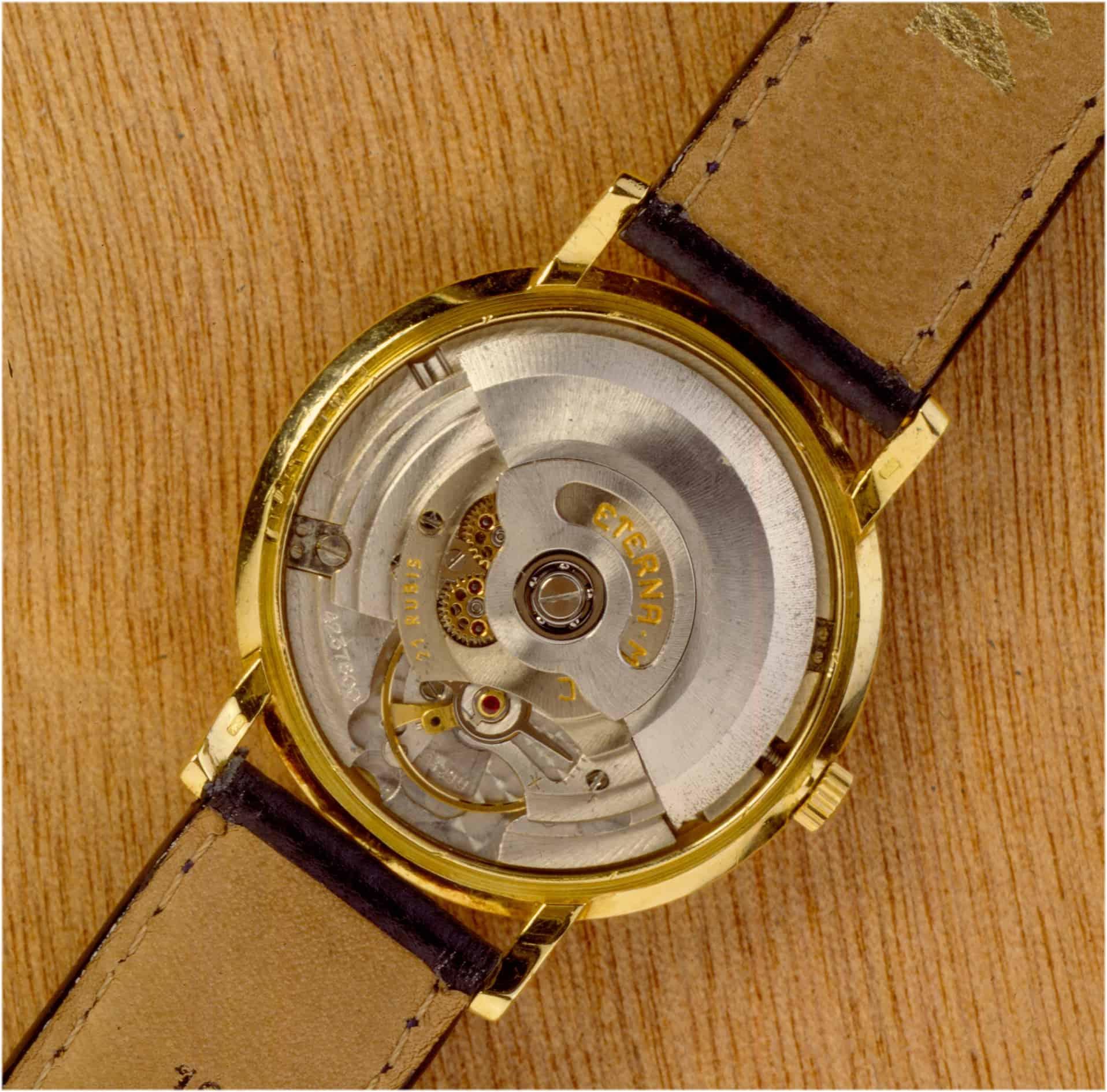 Das von Heinrich Stamm und seinem Eterna Team entwickelte Kaliber 1429U mit 2,5 Hertz Bild Uhrenkosmos