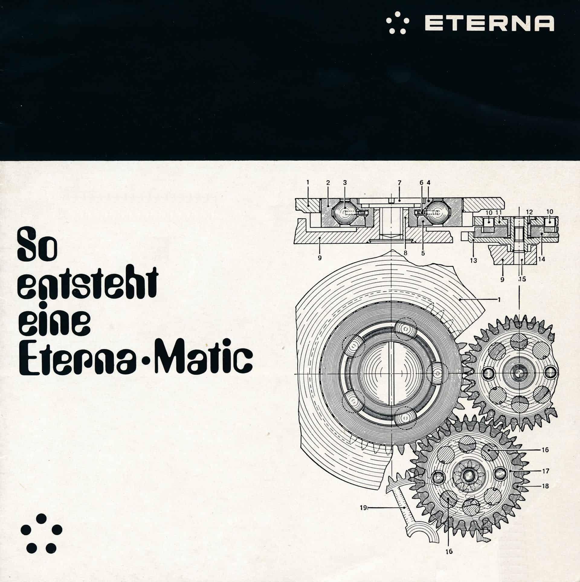 Die Eterna Broschüre von circa 1960 zeigt die Entstehung der Eterna-Matic