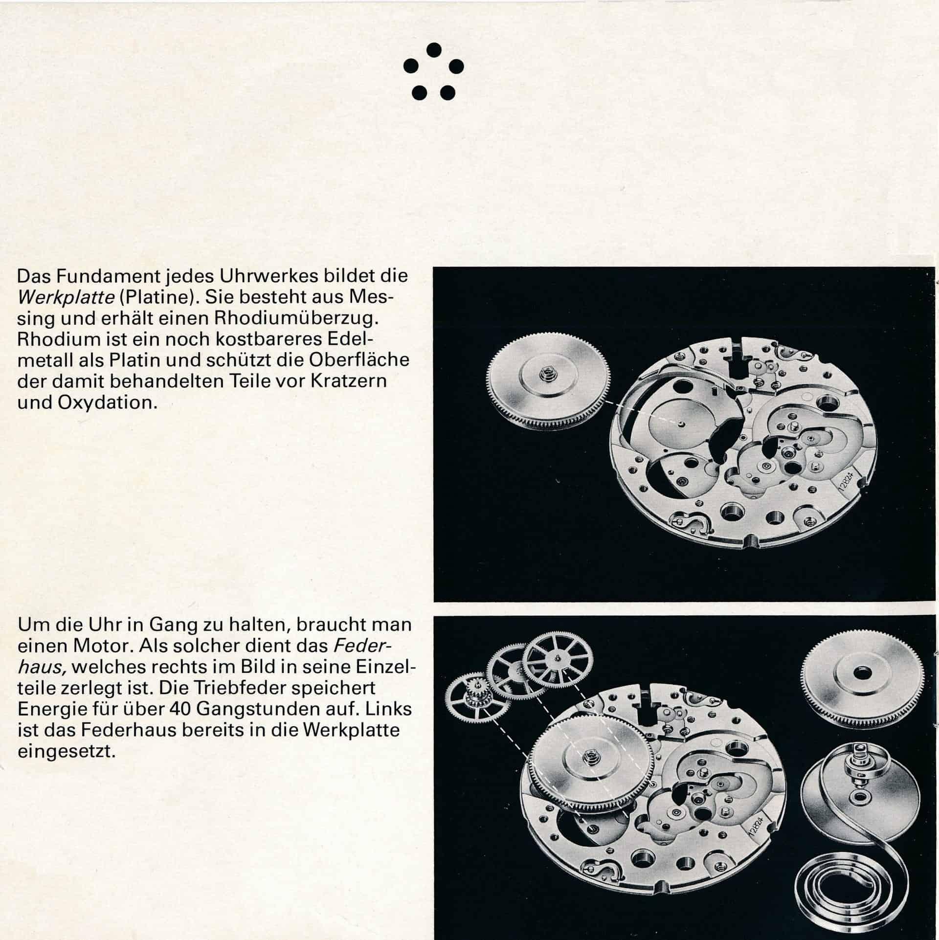 Funktionsweise einer Uhr - am Beispiel der Eterna-Matic