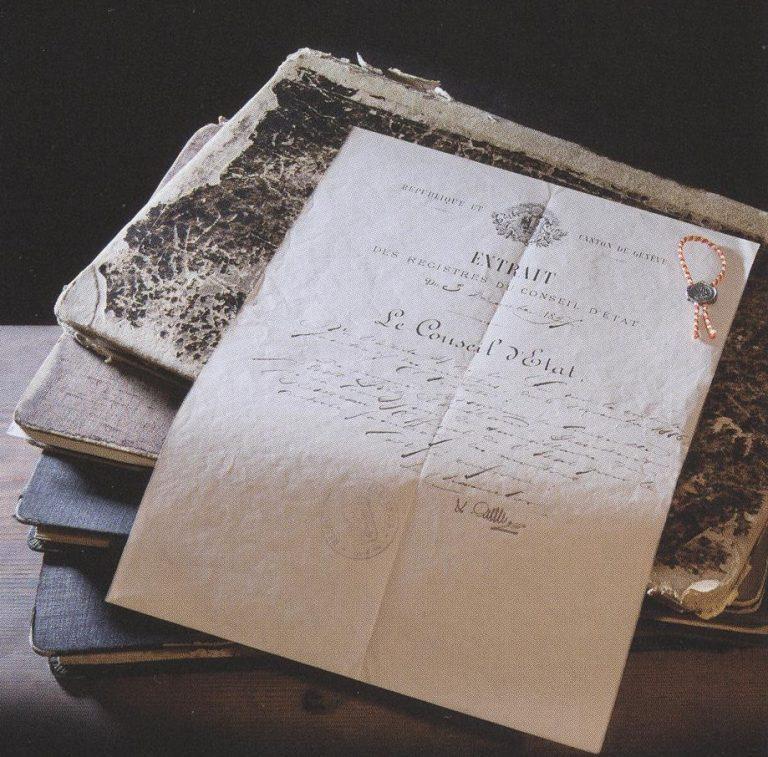 Genfer Siegel Dokument von 1886