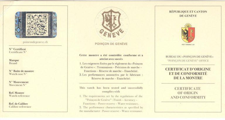 Genfer Siegel Nachweis