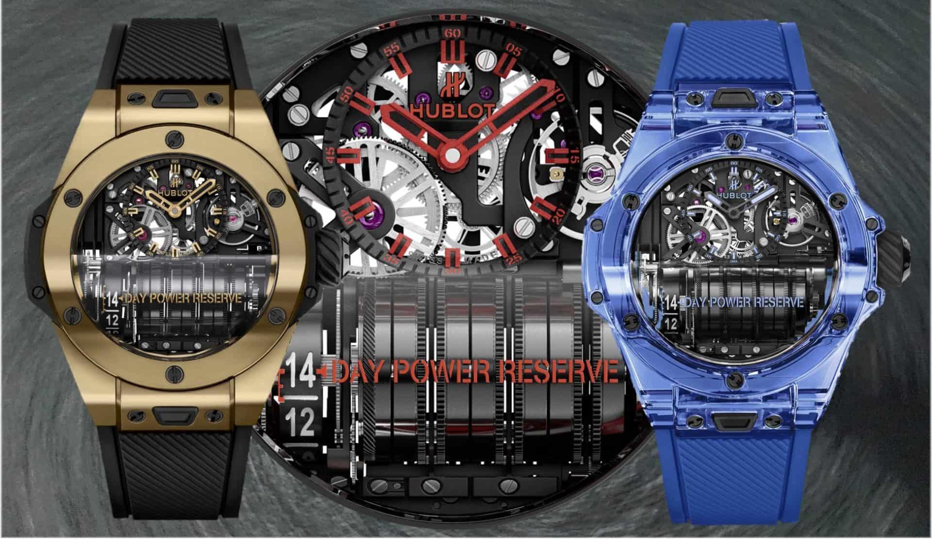 Hublot Big Bang MP-11Hublot Big Bang MP-11 Magic Gold und Blue Sapphire – 2 Reihenmotoren fürs Handgelenk