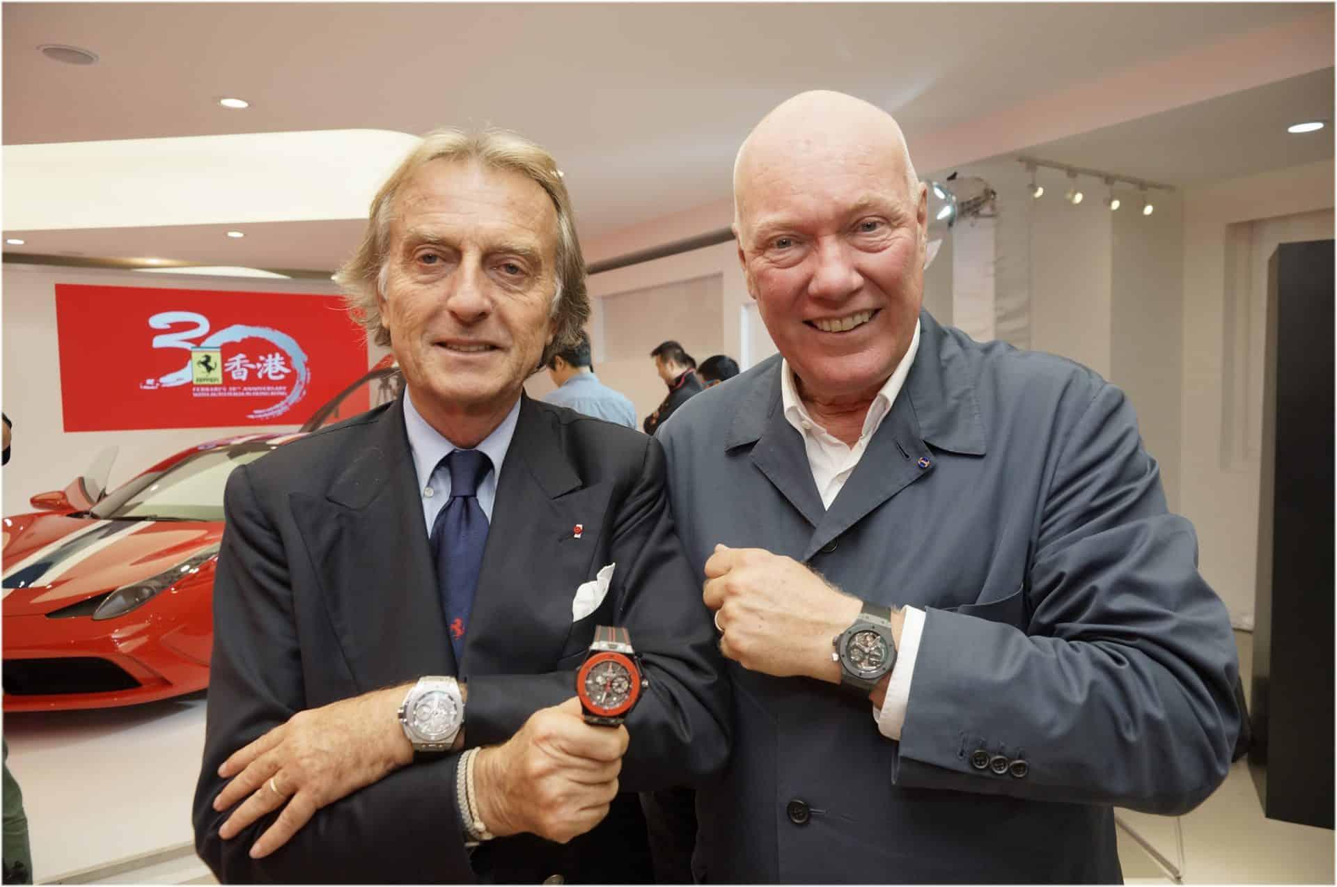 Jean-Claude Biver und Luca di Montezemolo vereinbarten 2011 eine zehnjährige Kooperation von Ferrari mit Hublot