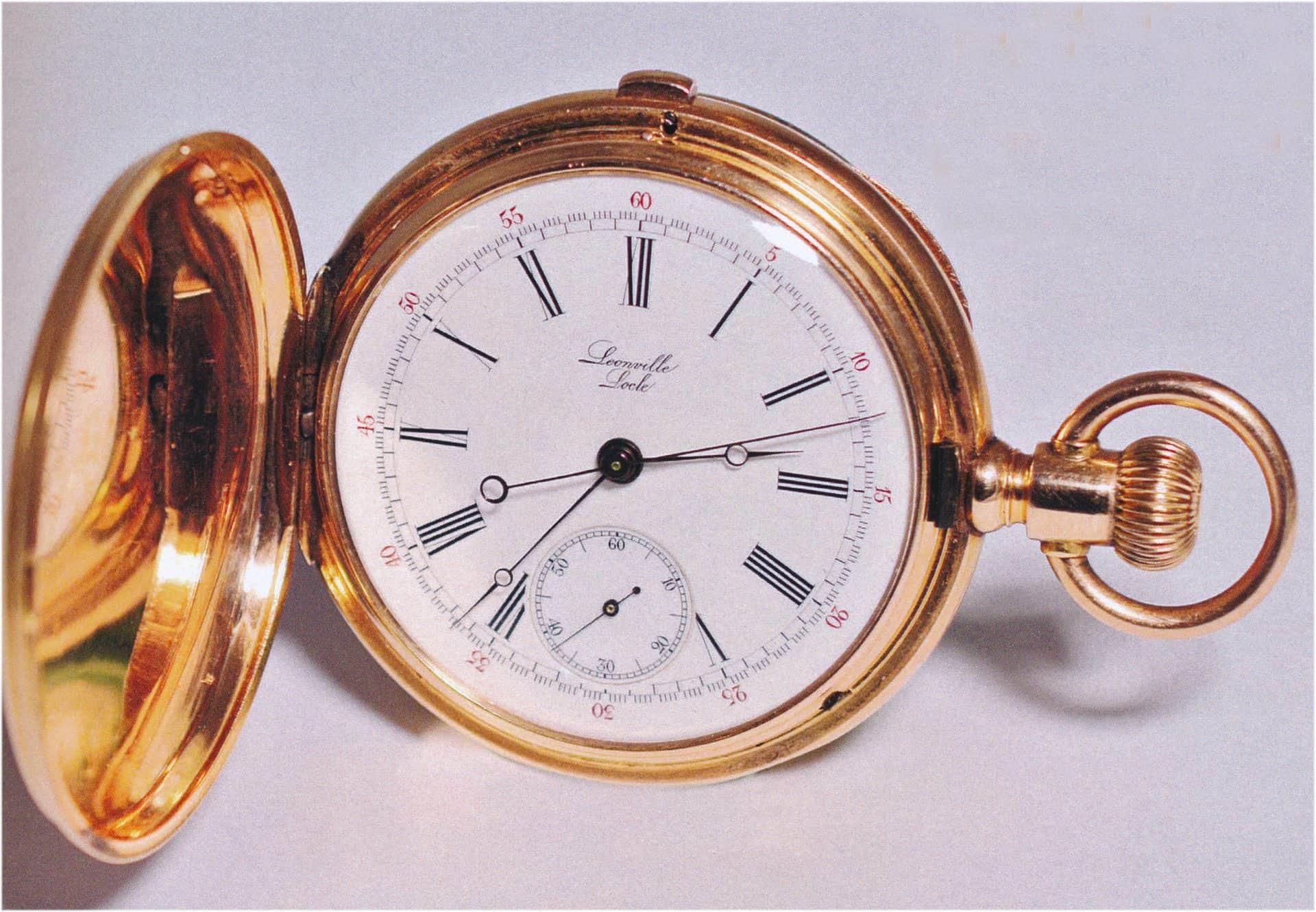Leonville Sekunden-Chronographen aus der Zeit um 1885