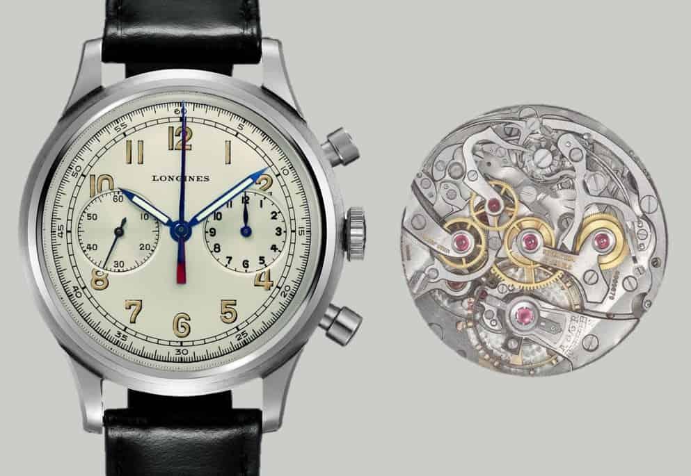 Longines Chronograph mit zentralem Minutenzähler Kaliber 13ZN