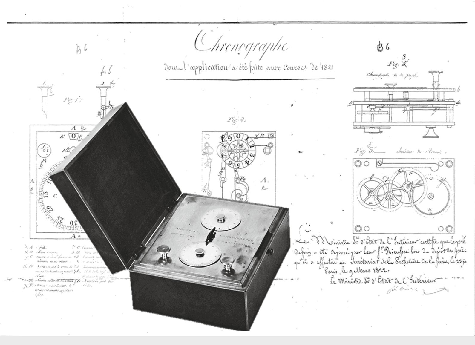 Erster Tintenschreiber Chronograph 1821 von Nicolas Matthieu Rieussec