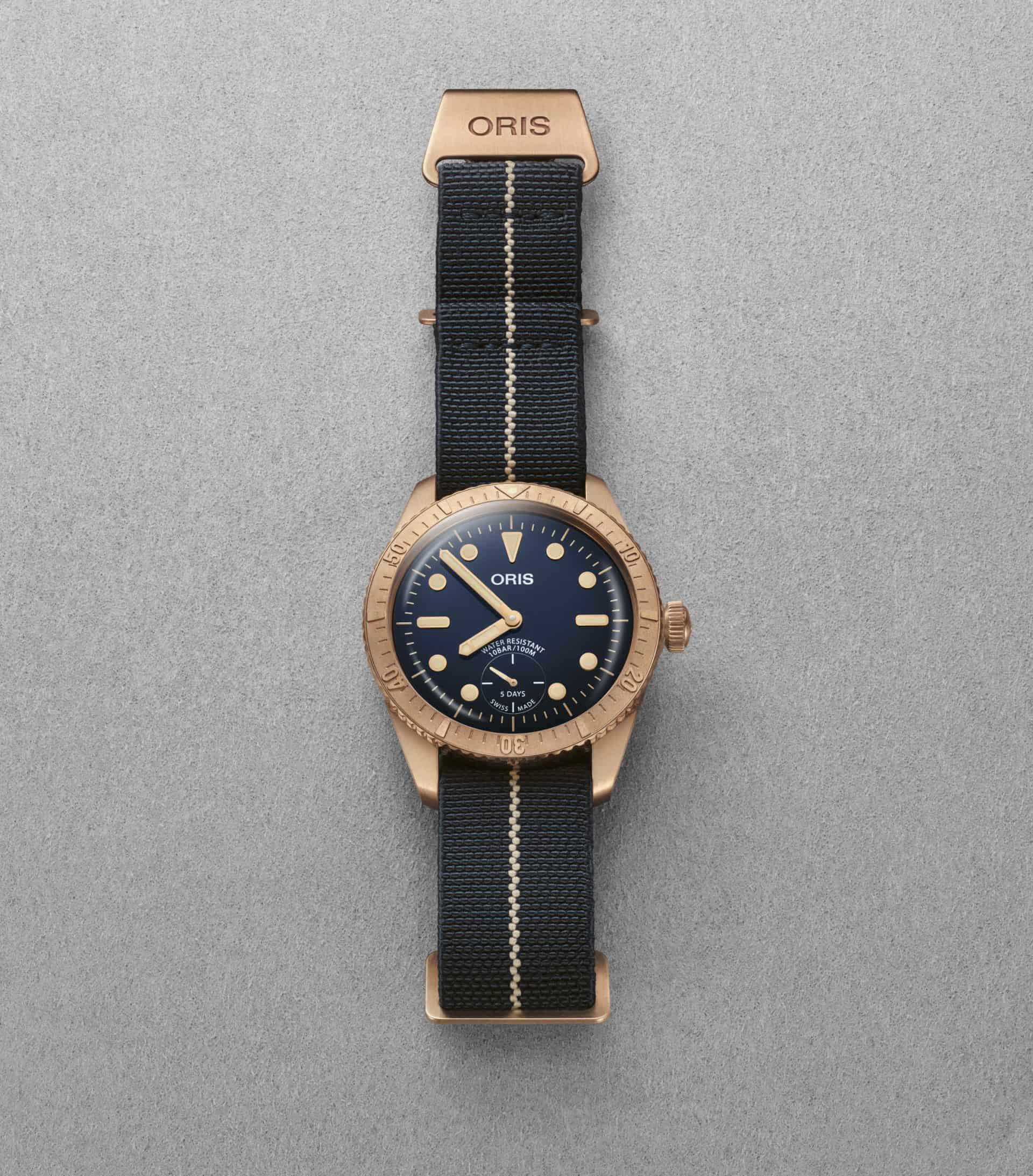 Armband der Oris Carl Brashear Cal. 401 von Erika's Originals aus elastischem Nylon