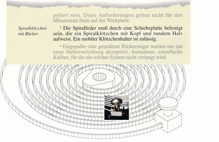 Patek Philippe Genfer Siegel alt - Unruhspirale mit Spiralklötzchen