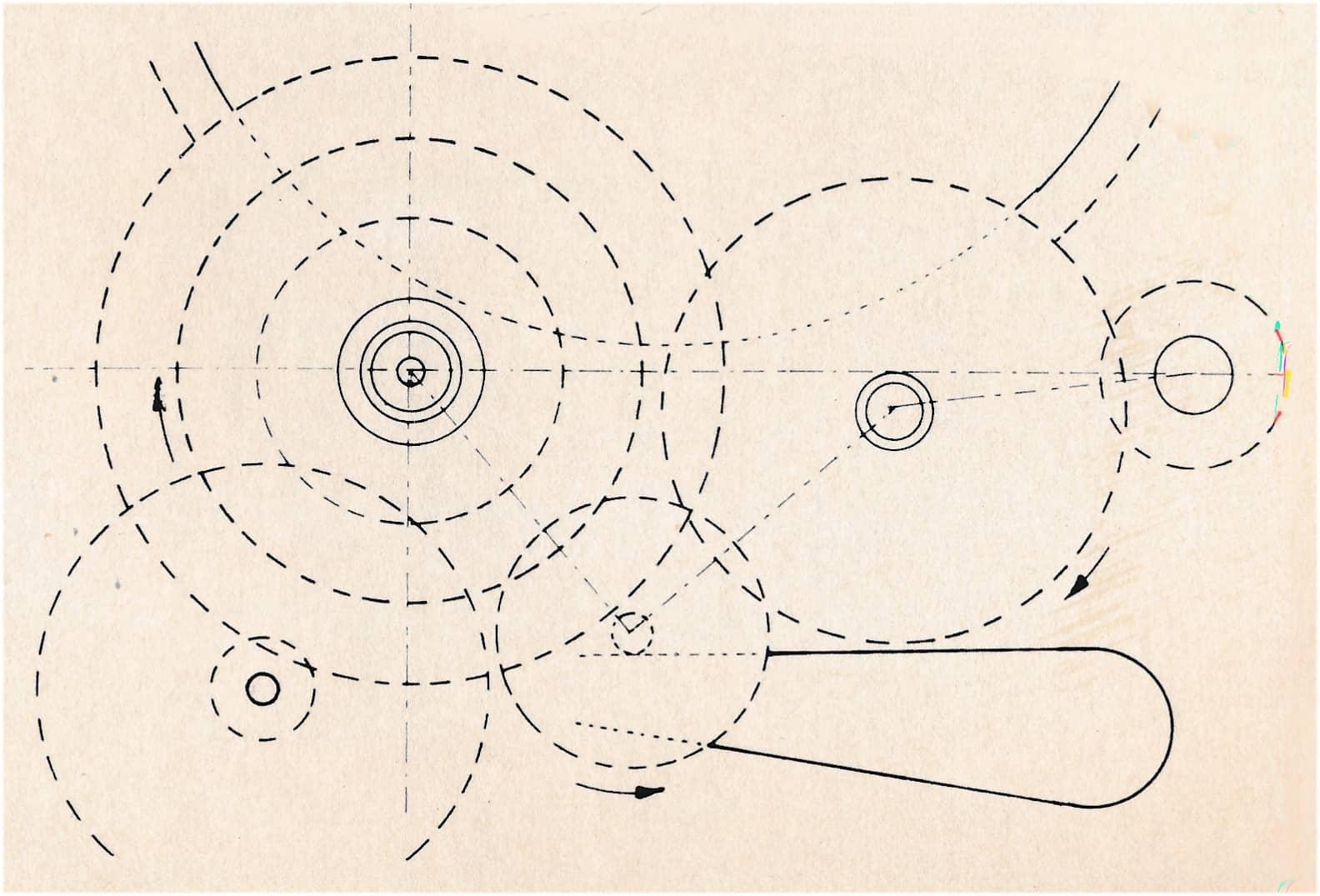 """Der von Heinrich Stamm entwickelte und patentierte Minutenzeiger-Antrieb """"System Eta"""""""