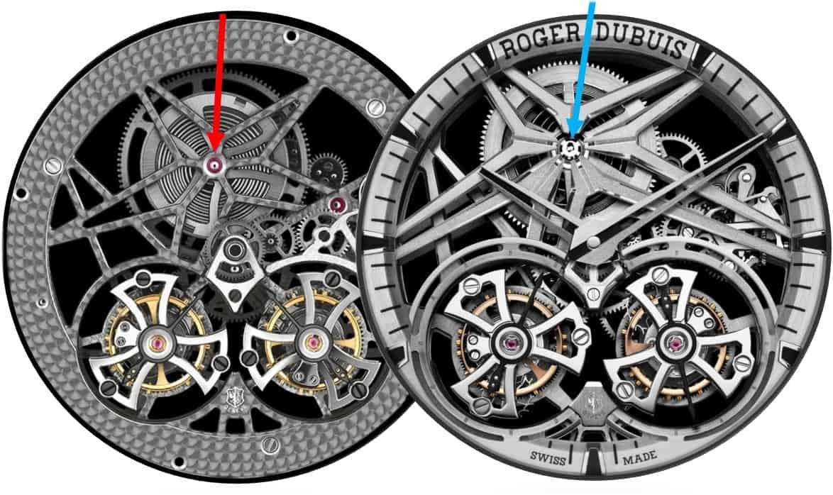 Roger-Dubuis-Kaliber-RD01SQ-versus-RD-108SQ-Uhrenkosmos-GLB