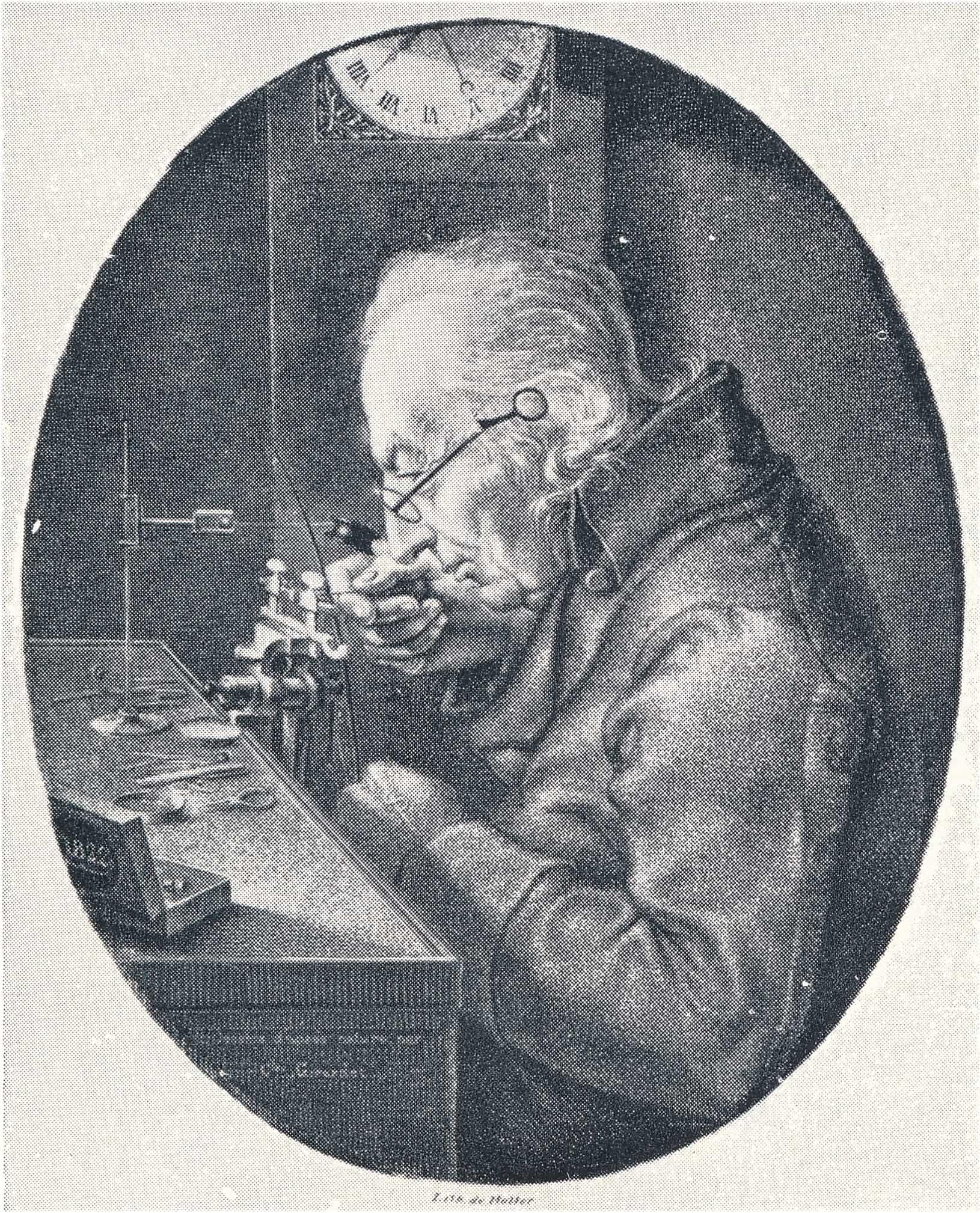 Der Erfinder Abraham-Louis Perrelet in seinen Atelier