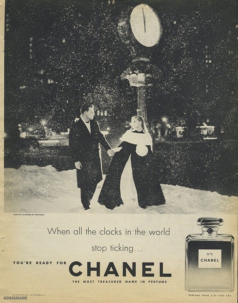 Historische Anzeigenmotiv Parfum Chanel No 5
