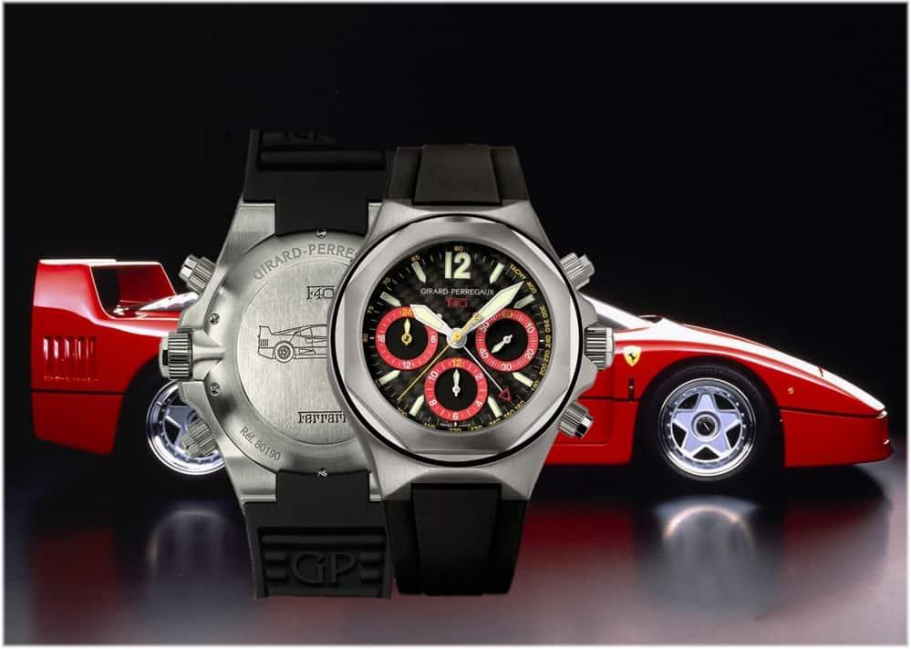Uhrenkooperation Ferrari F40 und Girard-Perregaux Laureato Chronograph F40