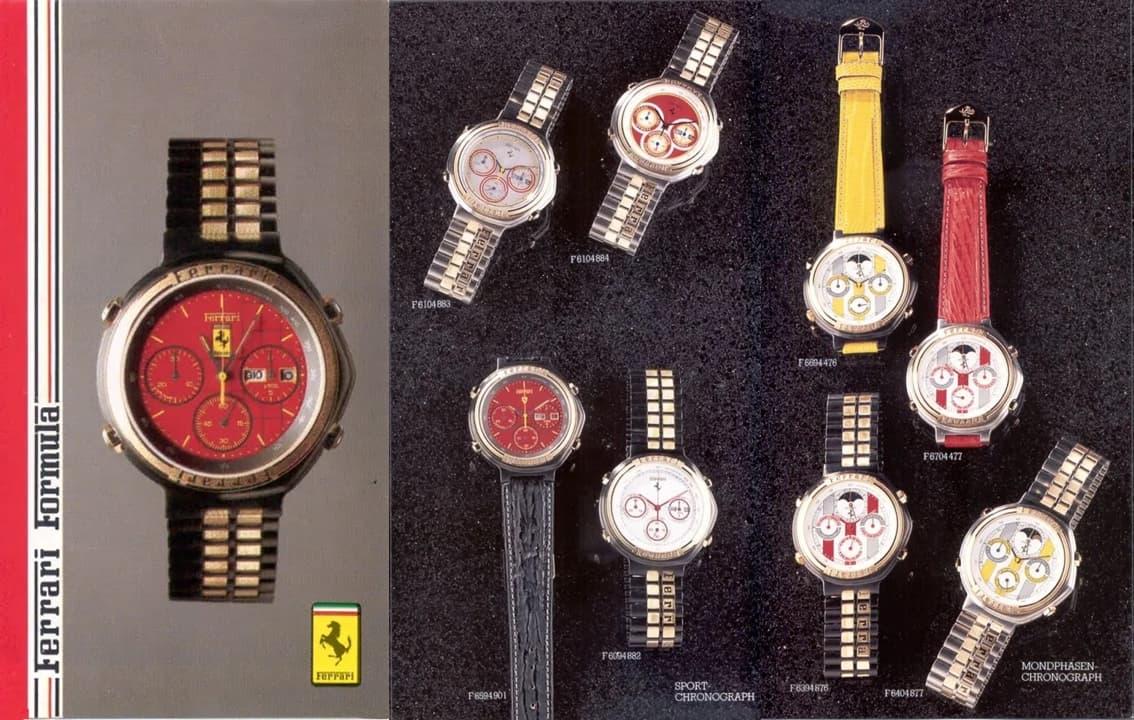 Cartier Ferrari Modelle im Katalog