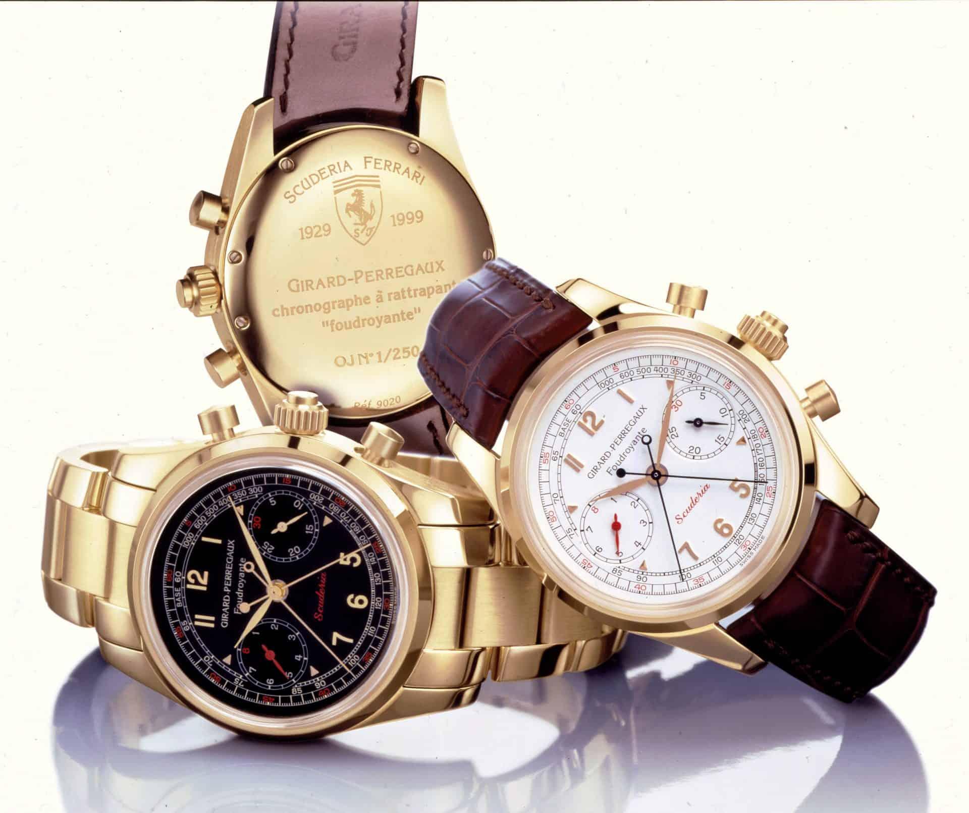 Girard-Perregaux Scuderia Ferrari Chronograph Rattrapante Foudroyante 1999 - Ensemble