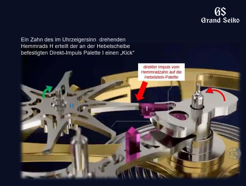 Kaliber 9SA5 Doppelimpuls-Hemmung - Direktimpuls 3