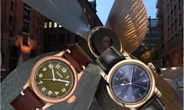 2 Bronze Uhr Editionen:  Hanhart Pioneer One und Erwin Sattler Classic Bronze
