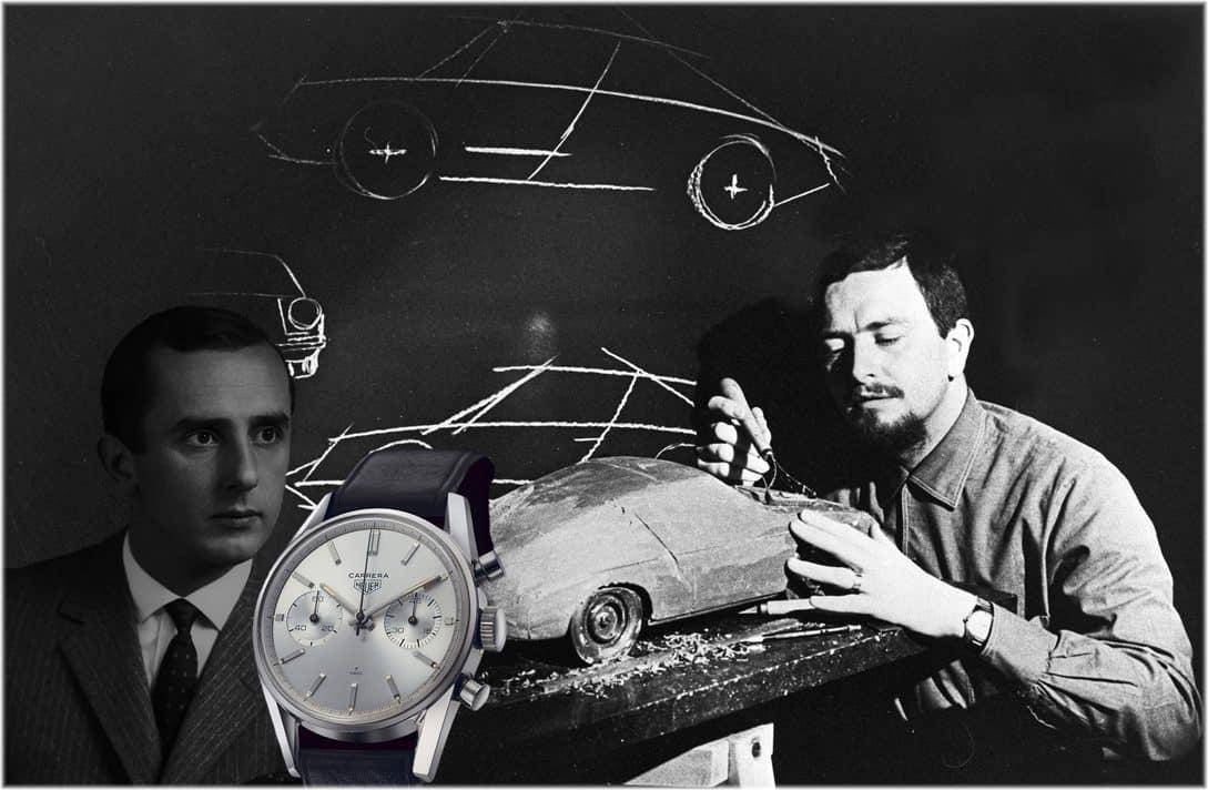 Jack W. Heuer Heuer Carrera und Ferdinand Alexander Porsche Porsche 911 C Uhrenkosmos