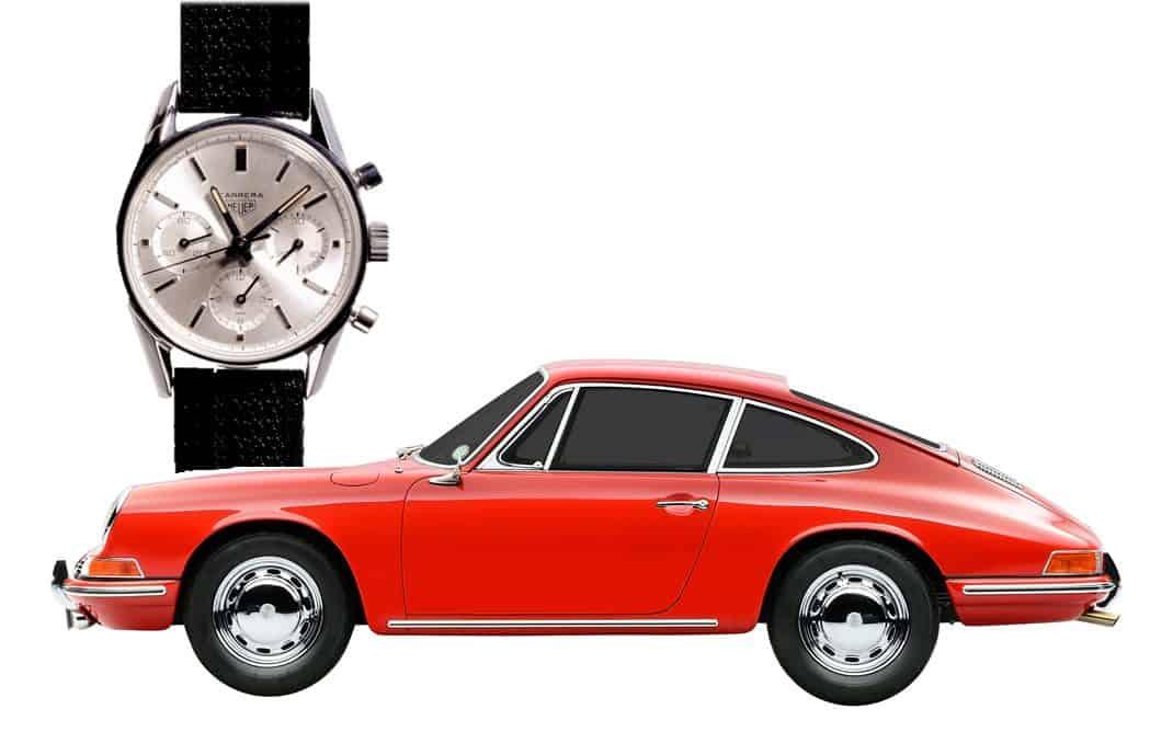 Sowohl der Porsche 911 als auch die Heuer Carrera entstanden im Jahr 1963