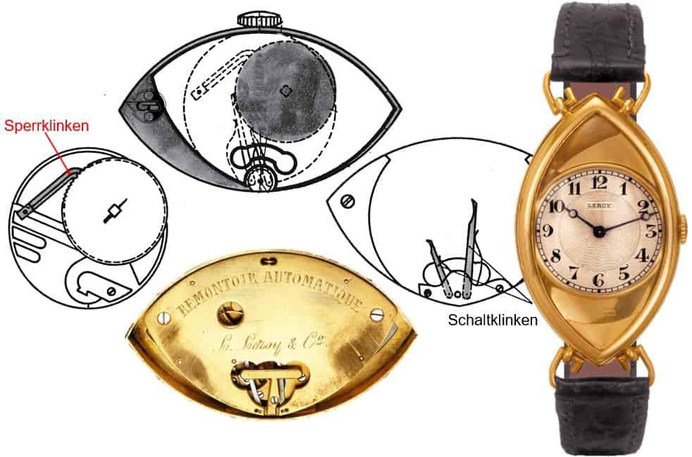 Erste Automatik-Armbanduhr von Leroy & Fils aus dem Jahr 1921