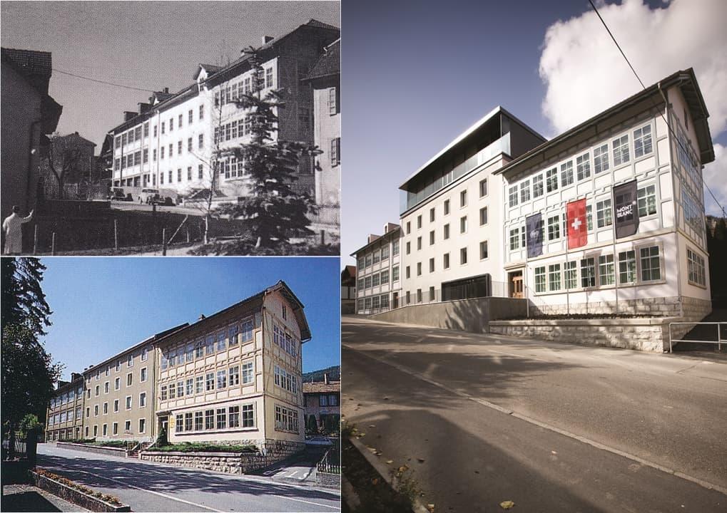 Das Minerva Gebäude 1930, 1998 und nach dem Umbau im heutigen Zustand