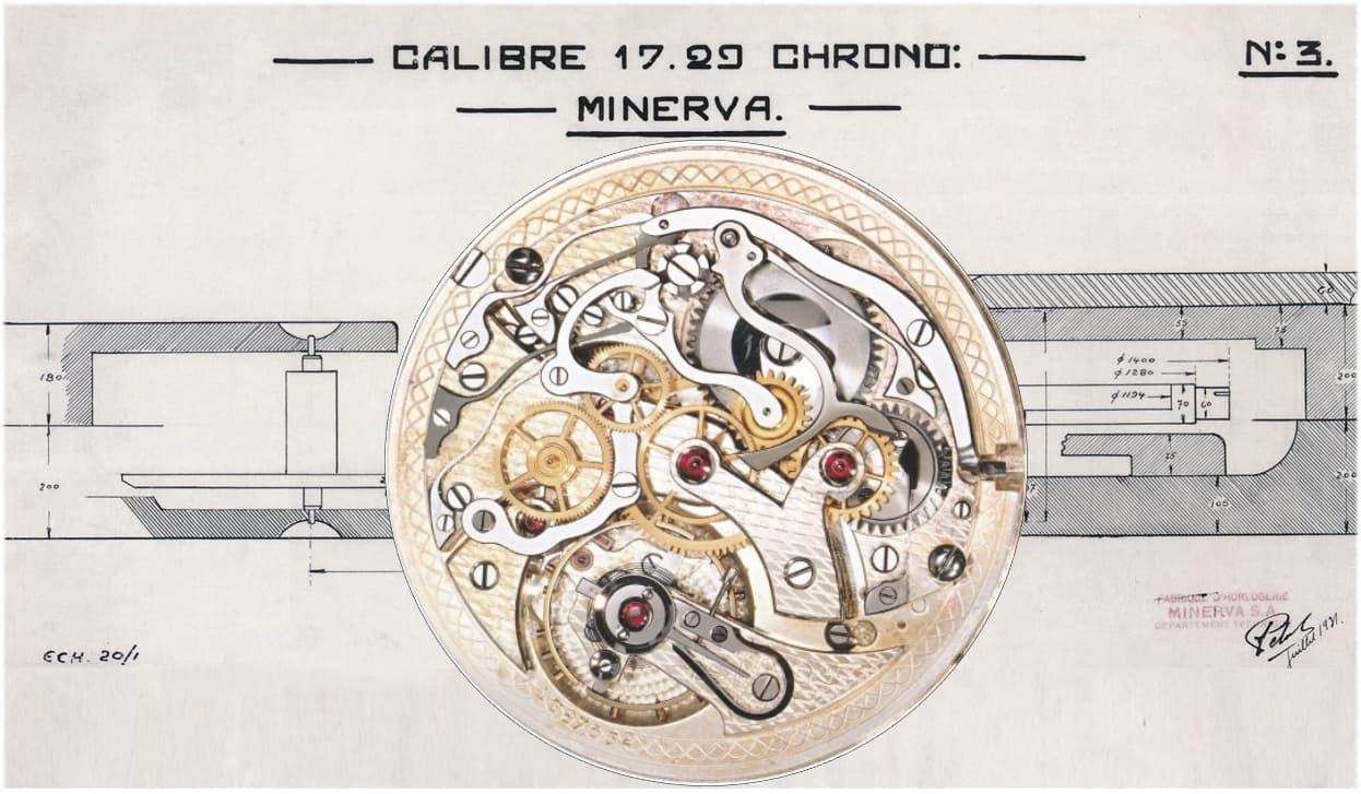 Minerva Kaliber 17/29 Chronograph