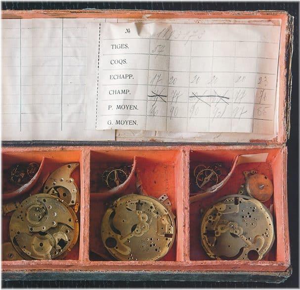 unvollendete Minerva Uhrwerke