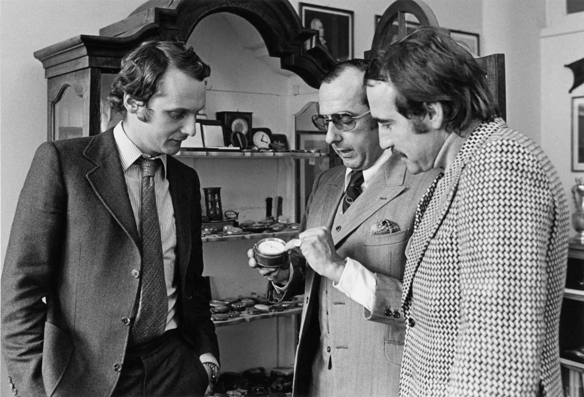 Niki Lauda Jack W. Heuer und Clay Regazzoni