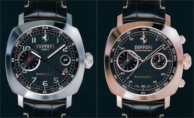 Uhren aus der Uhrenkooperation Ferrari mit Panerai