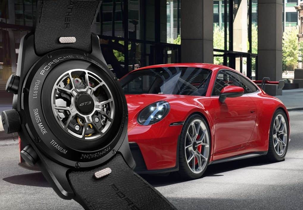 Design des Aufzugs-Rotors des Porsche Design 911 GT3 Chronographen