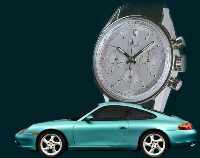 Reedition der Heuer Carrera 1996 allerdings ohne Carrera Schriftzug- Uhrenkosmos
