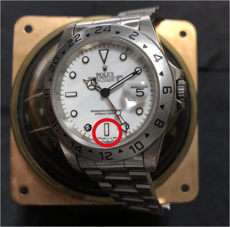 Rolex Explorer II Referenz 16570 Tritium