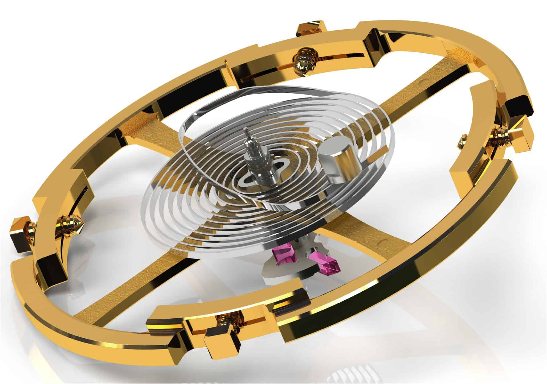 Grand Seiko Automatikkaliber 0SA5 mit hauseigener Unruhspirale. Hier oszillieren eine Unruh mit variabler Trägheit