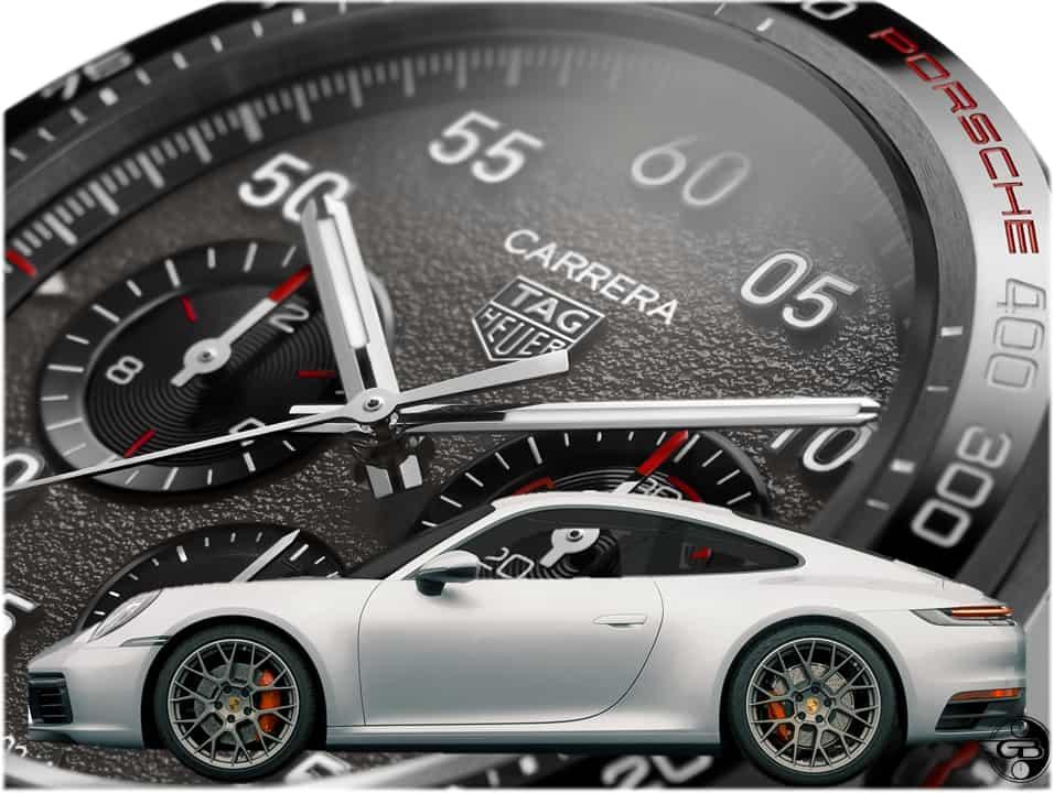 Das Zifferblatt des TAG Heuer Porsche Carrera Stoppers hat eine Grip-artige Oberfläche