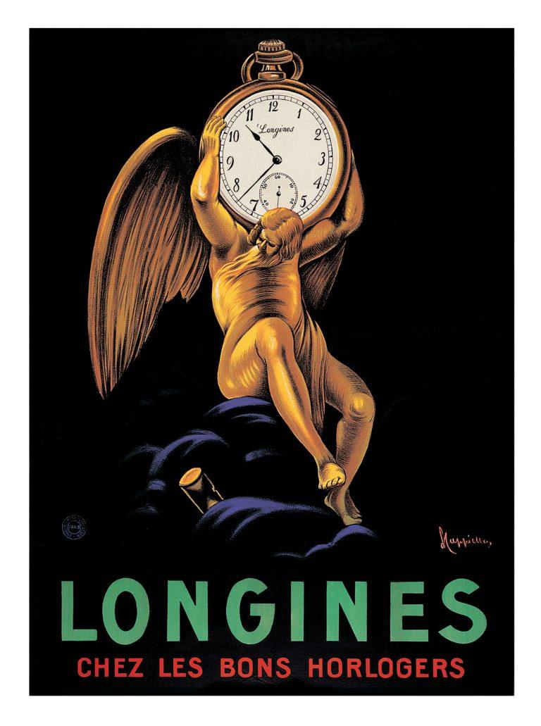 Alte Longines Uhrenwerbung