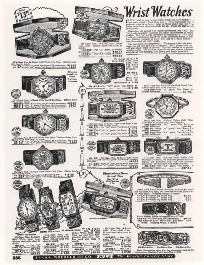 Alte Uhrenwerbung